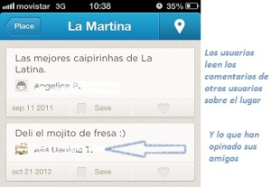 Usuarios de Foursquare recomiendan