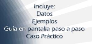 Curso incluye datos, ejemplos, guía paso a paso y caso práctico